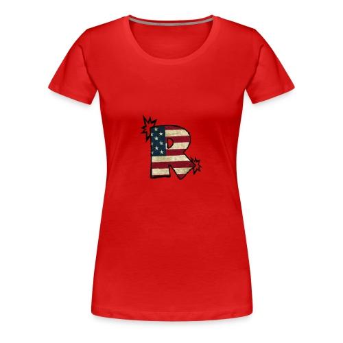 SuppzReviews R Logo - Women's Premium T-Shirt