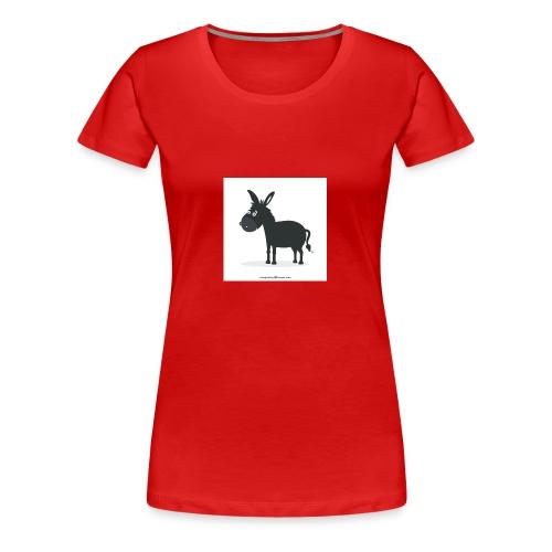 Awesome donkey animated - Women's Premium T-Shirt