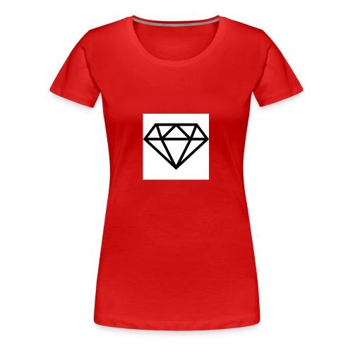 diamond outline 318 36534 - Women's Premium T-Shirt