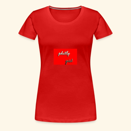 phillygirlt5red - Women's Premium T-Shirt