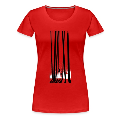 Kayak, monkey, forest - Women's Premium T-Shirt