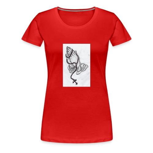 praying hands - Women's Premium T-Shirt