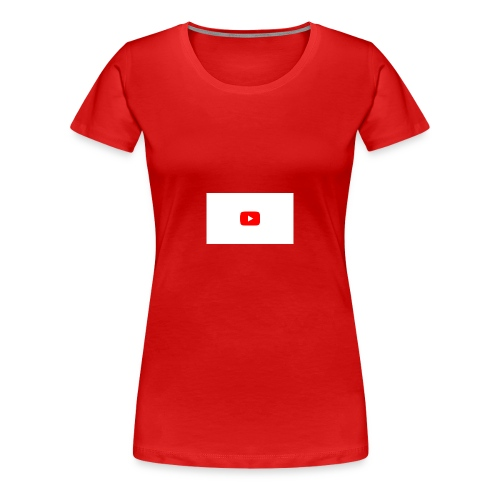 YouTube icon - Women's Premium T-Shirt