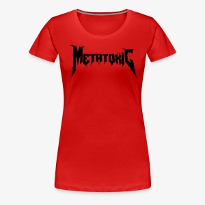 METATOXIC Text Logo (Black) - Women's Premium T-Shirt