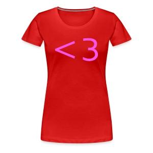 PINK HEART - Women's Premium T-Shirt