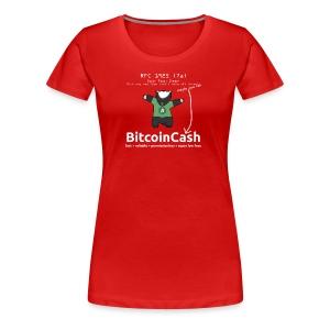 Bitcoin Cash RFC 1925 (7a) Green logo - Women's Premium T-Shirt