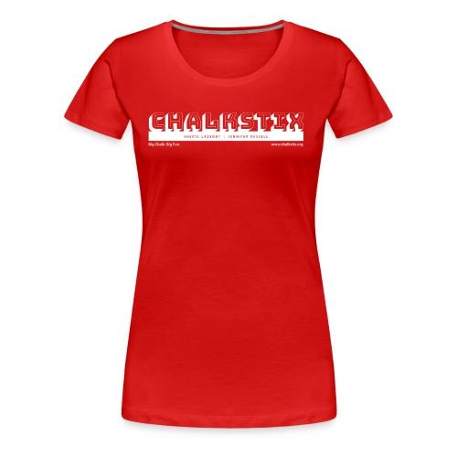 chalkstix logo WHITE - Women's Premium T-Shirt