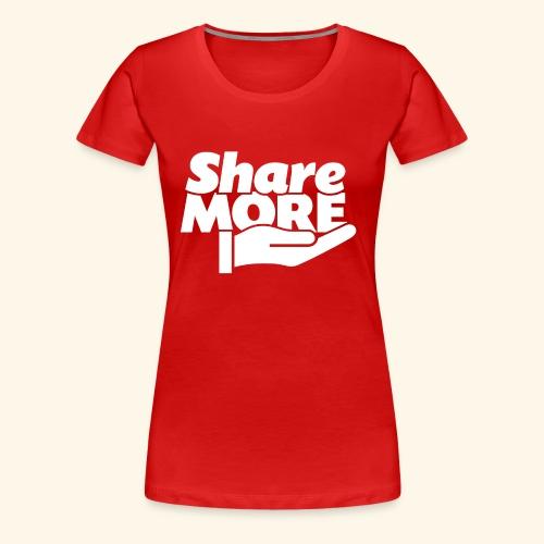 share more retro white - Women's Premium T-Shirt
