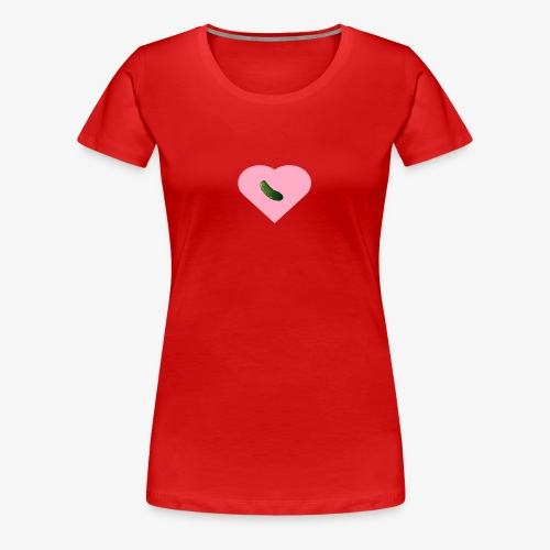 Traa-Tan Pickle Heart - Women's Premium T-Shirt