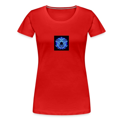 Blue Neon Tiger - Women's Premium T-Shirt