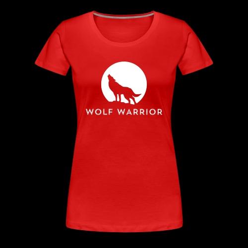Red/Grey Wolf - Women's Premium T-Shirt