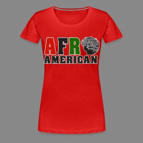 Afro American RBG - Women's Premium T-Shirt
