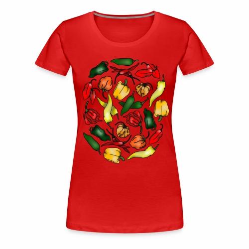 Chili Peppers - Women's Premium T-Shirt