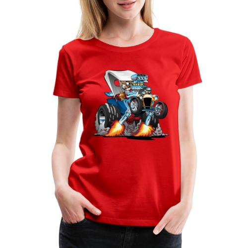 Custom T-bucket Roadster Hotrod Cartoon - Women's Premium T-Shirt