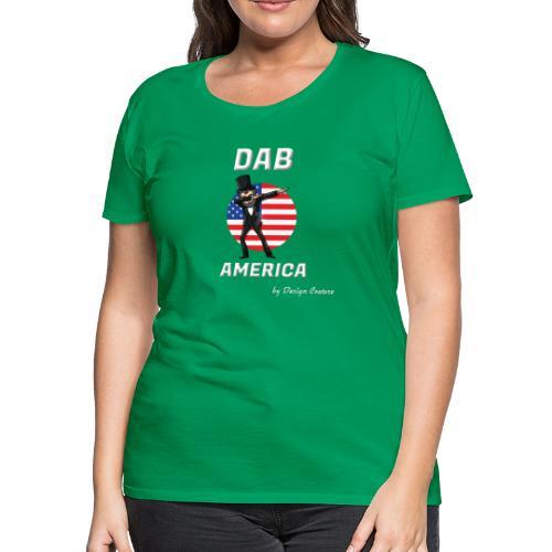 DAB AMERICA WHITE - Women's Premium T-Shirt