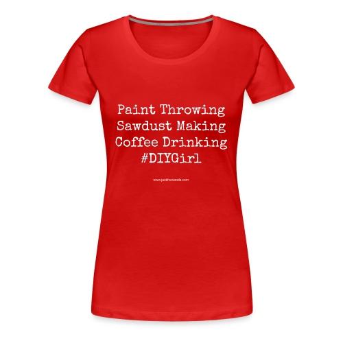 paint coffee work - Women's Premium T-Shirt