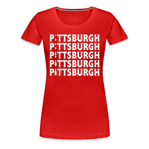 Ketch Up in PGH (Red) - Women's Premium T-Shirt