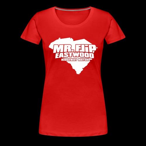 Mr. Flip - Official Logo (White) - Women's Premium T-Shirt