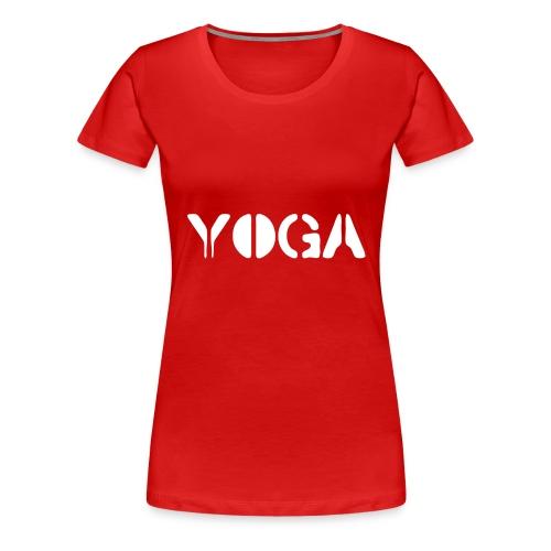 YOGA white - Women's Premium T-Shirt