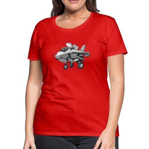 F-35B Lighting II Joint Strike Fighter Cartoon - Women's Premium T-Shirt