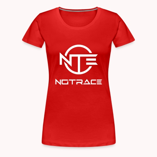 NoTrace WHITE Logo - Women's Premium T-Shirt