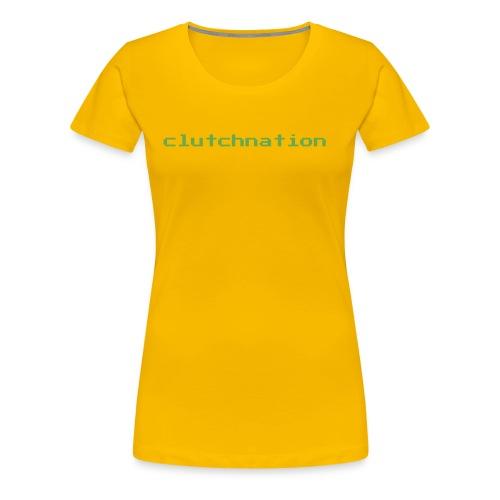 clutchnation green merch videogame - Women's Premium T-Shirt
