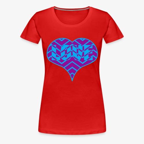CHEVRON LOVE HEART - Women's Premium T-Shirt