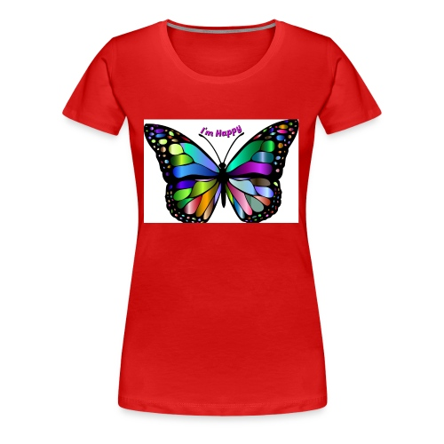 Happy Butterfly - Women's Premium T-Shirt