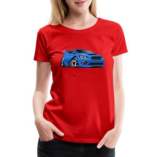 Modern Import Sports Car Cartoon Illustration - Women's Premium T-Shirt