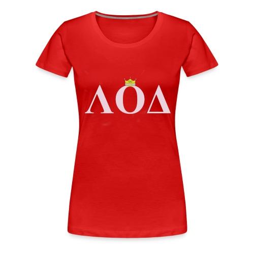 Crown Pink Letters - Women's Premium T-Shirt