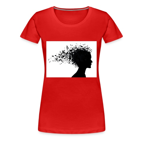 music through my head - Women's Premium T-Shirt