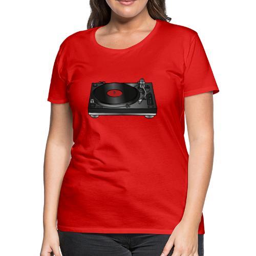 Record player, turntable - Women's Premium T-Shirt