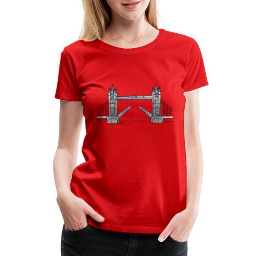 London tower bridge, landmark of London UK - Women's Premium T-Shirt