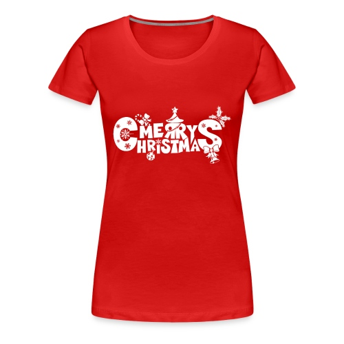 Merry Christmas blanco - Women's Premium T-Shirt