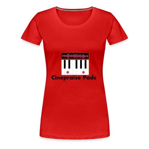 Cinepraise Pads Orange with Black Text - Women's Premium T-Shirt