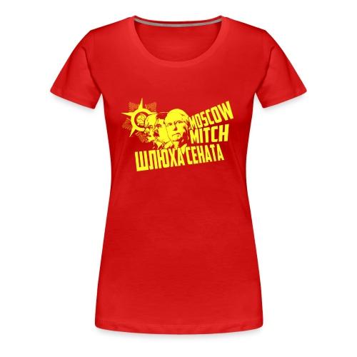Moscow Mitch-Yellow - Women's Premium T-Shirt