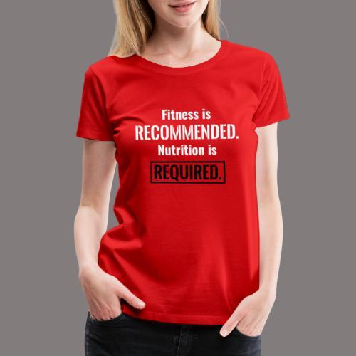 Mens_Nutrition_Black - Women's Premium T-Shirt