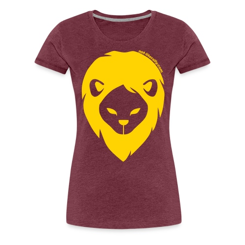 Not Literally Gryffindor Logo Large - Women's Premium T-Shirt
