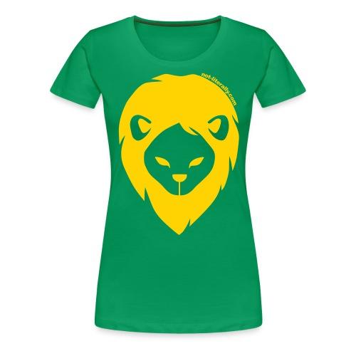 Not Literally Gryffindor Logo Large - Women's Premium T-Shirt