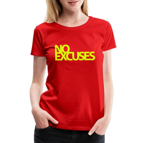 No Excuses Gym Motivation - Women's Premium T-Shirt