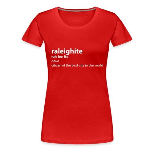 raleighitewhite png - Women's Premium T-Shirt