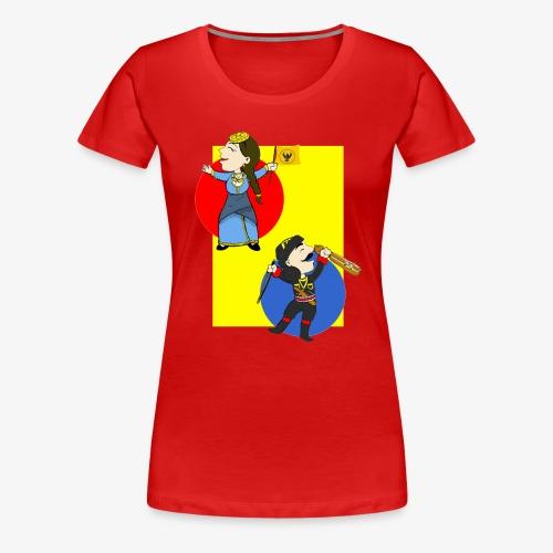Cartoon - Pontios/lyra & Pontia/flag - Women's Premium T-Shirt