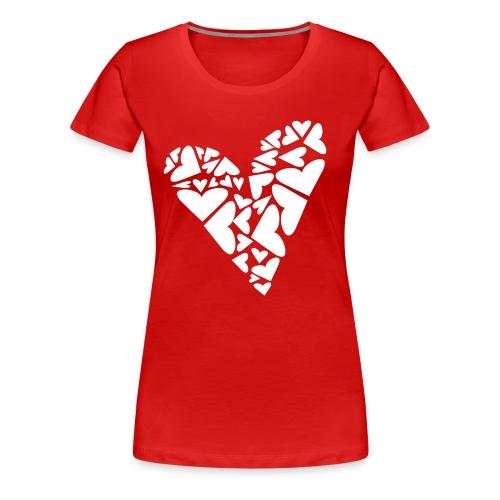 Hearts In Heart Formation, Asymmetrical - Women's Premium T-Shirt