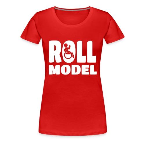 Wheelchair Roll model - Women's Premium T-Shirt