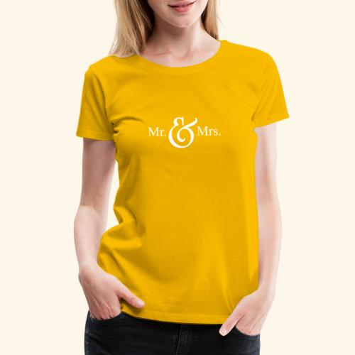 MR.& MRS . TEE SHIRT - Women's Premium T-Shirt