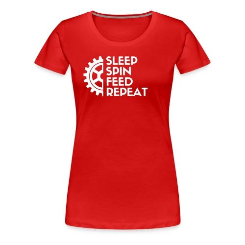 SLEEP SPIN FEED REPEAT Three - Women's Premium T-Shirt