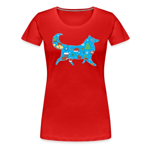 Collie Christmas - Women's Premium T-Shirt