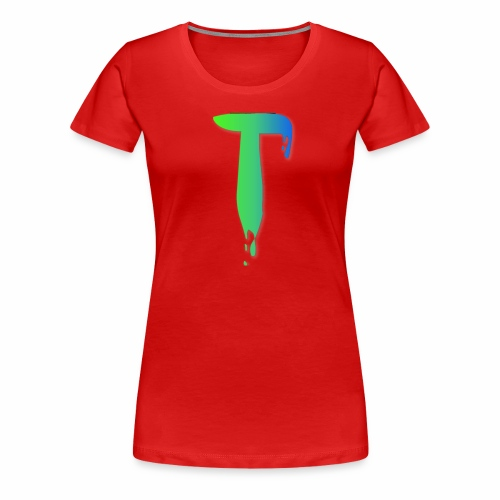 Colored Tlicker Logo - Women's Premium T-Shirt