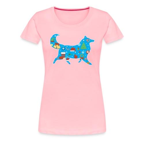 Collie Christmas - Women's Premium T-Shirt