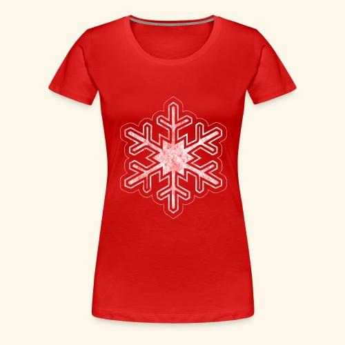 Grunge Christmas Snowflake - Women's Premium T-Shirt